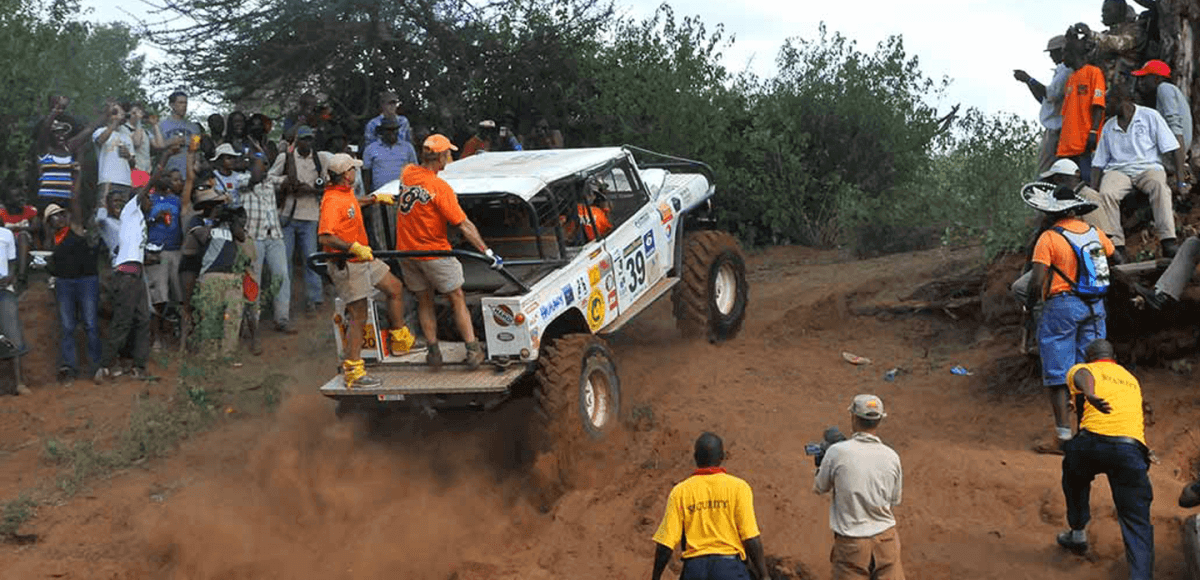The beast of the bushes! The crew ready their big bad rumbler for its off roading motorsports competition known as the rhino charge