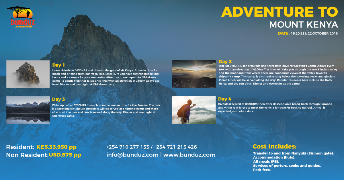 ADVENTURE TO MT KENYA